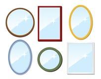 Ensemble de miroirs illustration stock