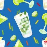 Ensemble de modèle de cocktail illustration stock