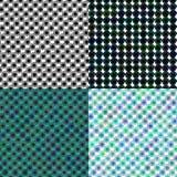 Ensemble de modèle coloré par boucles de spirale endless Photos libres de droits