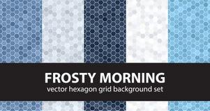 Ensemble de modèle d'hexagone Images stock