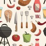 Ensemble de modèle de barbecue Illustration Libre de Droits