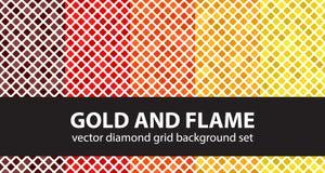 Ensemble de modèle de diamant Photographie stock