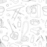 Ensemble de modèle de griffonnage de nettoyage Image stock
