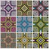 Ensemble de modèle de textile du Zimbabwe illustration de vecteur