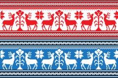 Ensemble de modèle ethnique d'ornement de vacances dans différentes couleurs Illustration de vecteur illustration de vecteur