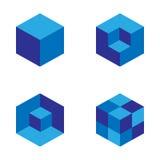 Ensemble de modèle géométrique de cube Conception graphique de mode Illustration de vecteur Conception de fond ABS élégant modern Photo libre de droits
