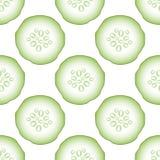 Ensemble de modèle sans couture de concombres verts frais illustration de vecteur