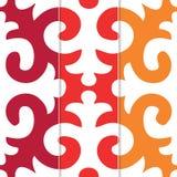 Modèle sans couture de Shyrdak Fleur de Lis Background Photos libres de droits