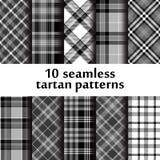 Ensemble de modèle sans couture du tartan 10 Images stock