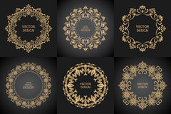 Ensemble de modèles baroques circulaires Images stock