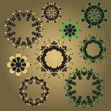 Ensemble de modèles circulaires images stock