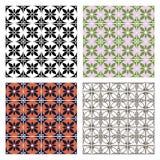 Ensemble de modèles colorés géométriques de vecteur sans couture avec les éléments ornementaux Photographie stock