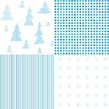 Ensemble de modèles de Noël Textures abstraites Photos stock