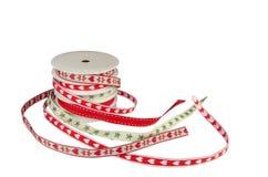 Ensemble de modèles de rubans de Noël Images stock