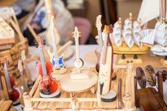 Ensemble de modèles des instruments de musique en bois Photographie stock