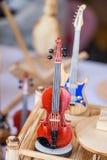 Ensemble de modèles des instruments de musique en bois Image libre de droits