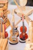 Ensemble de modèles des instruments de musique en bois Images stock