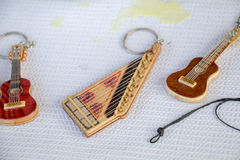 Ensemble de modèles des instruments de musique en bois Photo stock