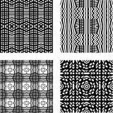 Ensemble de modèles géométriques abstraits Vecteur noir et blanc illustration libre de droits