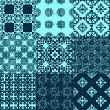 Ensemble de modèles géométriques sans couture de vecteur illustration de vecteur