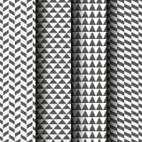 Ensemble de modèles géométriques sans couture Texture grise et blanche Image stock