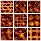 Ensemble de modèles rougeâtres de batik illustration de vecteur