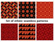 Ensemble de modèles sans couture géométriques ethniques Photos stock