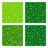 Ensemble de modèles verts de trèfle Photographie stock