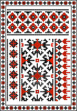 Ensemble de modèles traditionnels ukrainiens sans couture Photographie stock