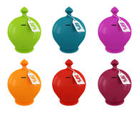 Ensemble de moneybox multicolore Photo stock