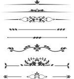 Ensemble de monogrammes décoratifs pour le texte, rayures modelées photo libre de droits