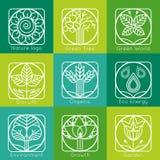 Ensemble de monogrammes et de logos d'arbre d'ensemble Résumé Photo stock