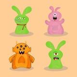 Ensemble de monstres colorés mignons Image libre de droits