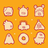 Ensemble de monstres d'icônes illustration de vecteur