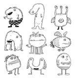 Ensemble de monstres de dessin animé Illustration de vecteur illustration stock