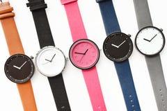 Ensemble de montres-bracelet multicolores Photos stock