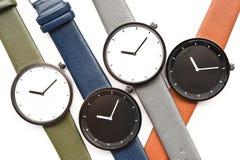 Ensemble de montres-bracelet multicolores Photographie stock libre de droits