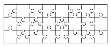 Ensemble de morceaux de puzzle Photo stock