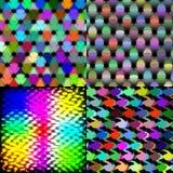 Ensemble de mosaïque colorée de tuiles d'arc-en-ciel abstrait Photo libre de droits