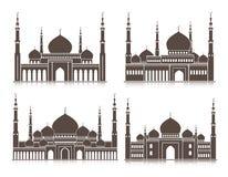 Ensemble de mosquée ou d'éléments de Masjid Photo stock