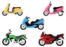 Ensemble de motocyclettes Images libres de droits