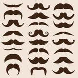 Ensemble de moustaches de vecteur dans le rétro style Photos stock