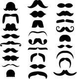 Ensemble de moustaches ized Photographie stock