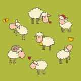 Ensemble de moutons illustration libre de droits