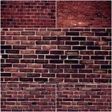 Ensemble de mur de briques différent Collage des photos sales de vieux murs de briques Photographie stock