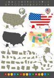 Ensemble de navigation des Etats-Unis d'Amérique illustration libre de droits
