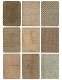 Ensemble de neuf milieux de texture de configuration de cru Image stock