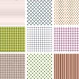 Ensemble de neuf modèles sans couture géométriques dans le rétro style Peut être employé à la conception de tissu, au papier pein illustration stock