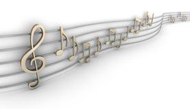 Ensemble de neuf notes musicales Images stock