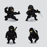 Ensemble de ninja illustration stock